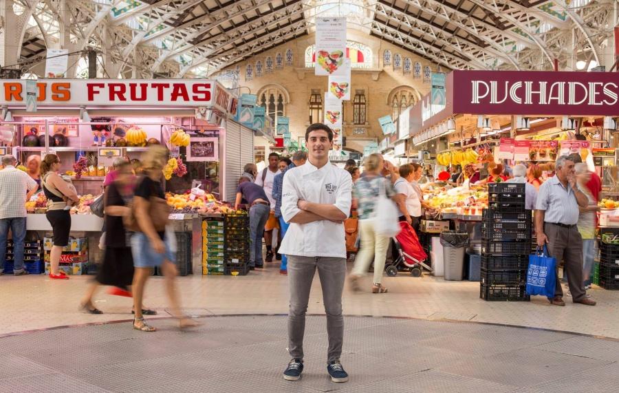 Visite du marché local accompagné d'un chef etoilé à Valence